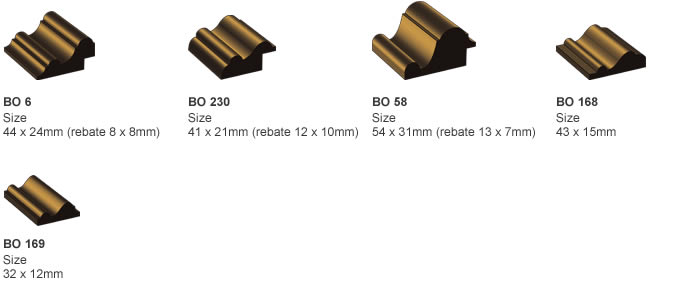 Image profiles of Bolection Moulds